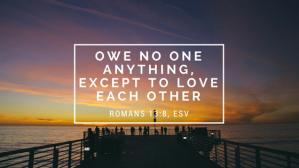 Romans 13.8