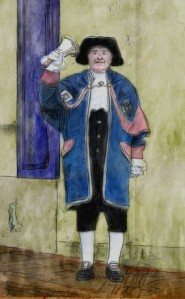 town-crier-digital-painting